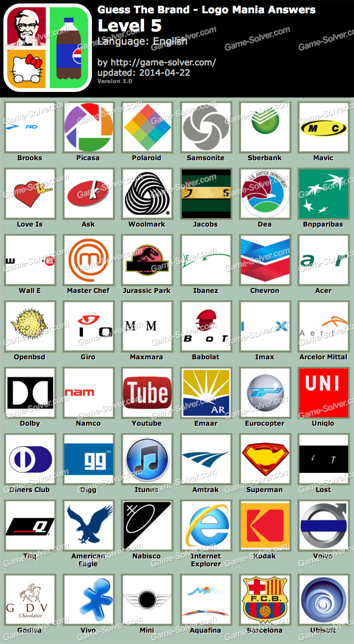 guess the brand logo mania level 5 game solver
