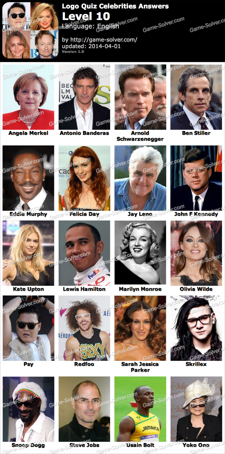 Celebrity Quiz Answers - Answers King