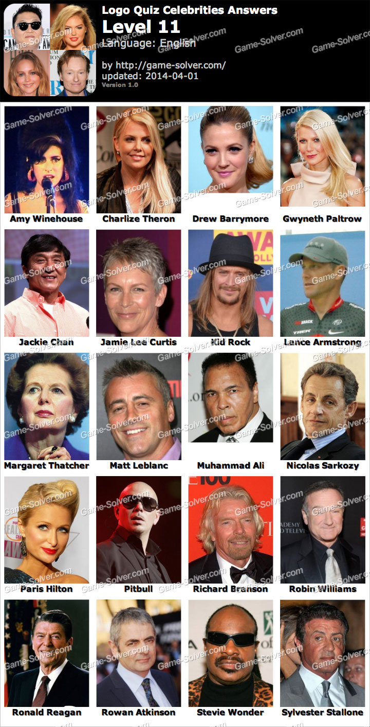 Celebrity Quiz (Bubble Quiz Games): Level 7 Answer - Game ...