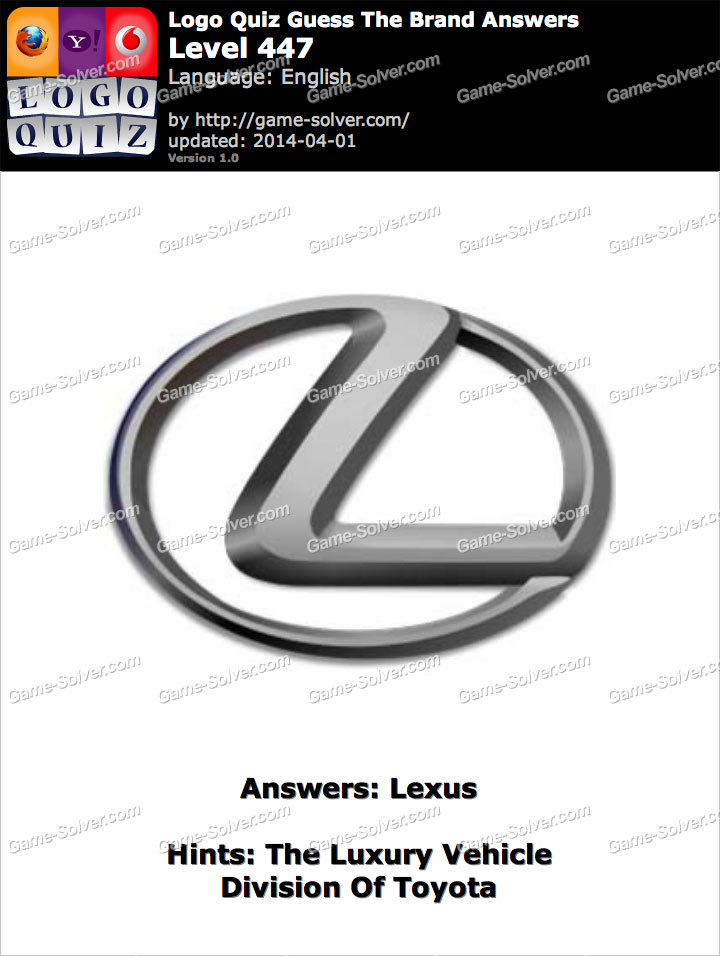 The Luxury Vehicle Division Of Toyota Game Solver