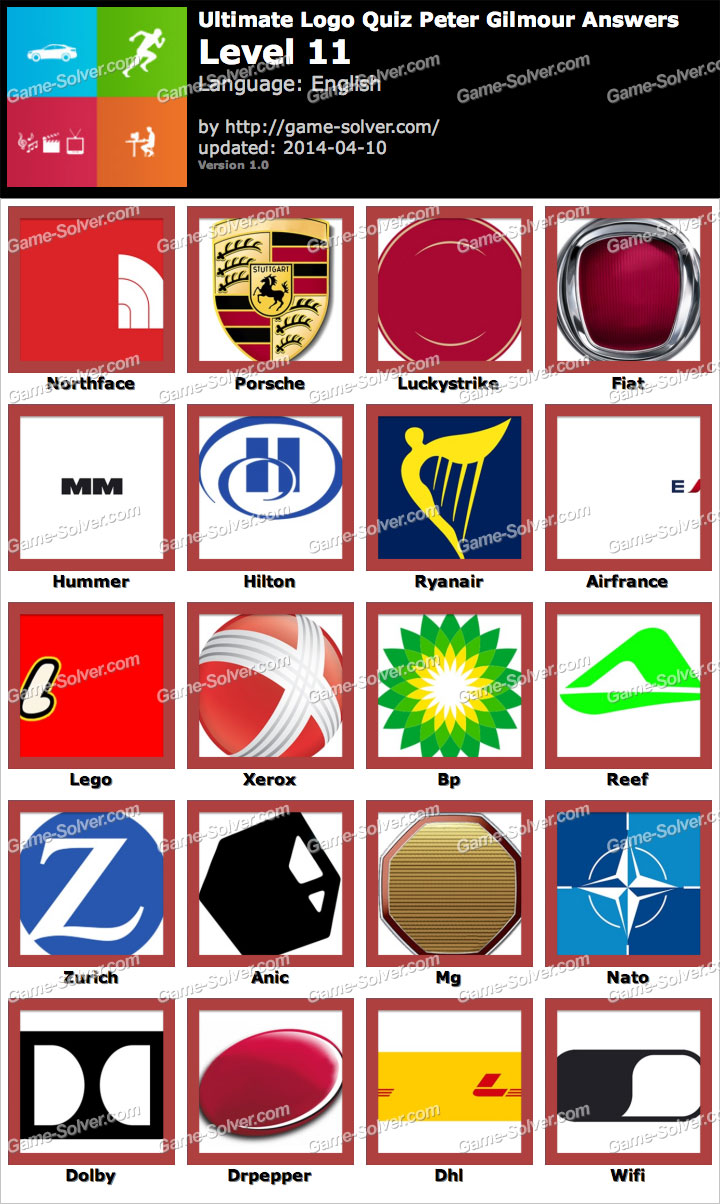 ultimate logo quiz peter gilmour level 11 game solver