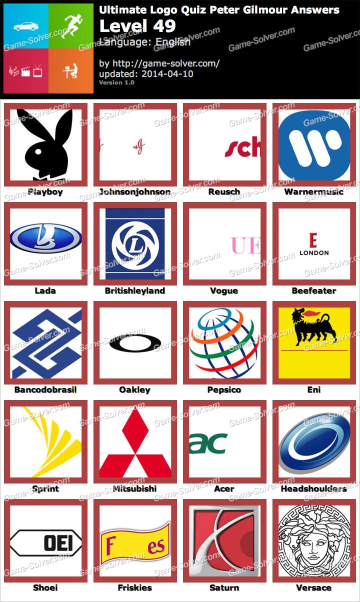 ultimate logo quiz peter gilmour level 49 game solver