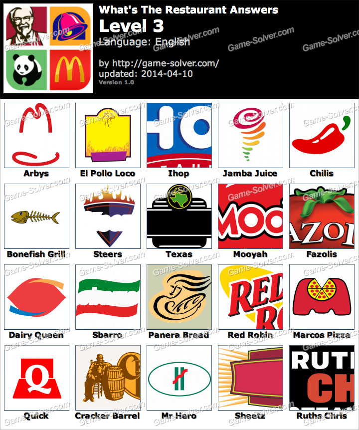 restaurant logos quiz answers