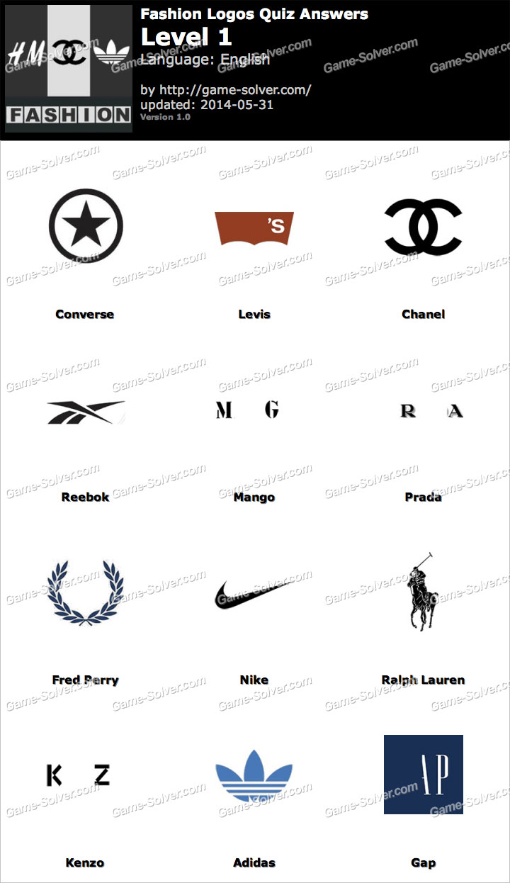 Fashion Logos And Names Quiz