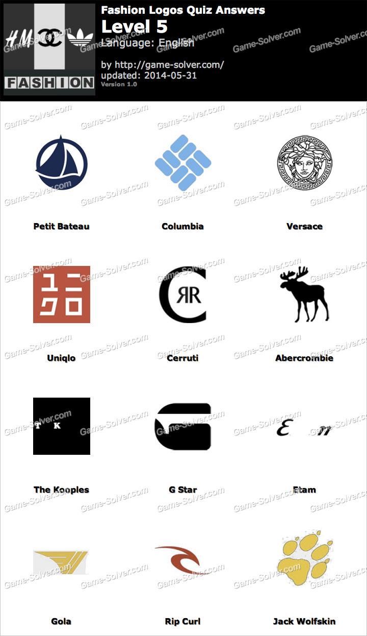 Fashion Logos Quiz Level 5 Game Solver