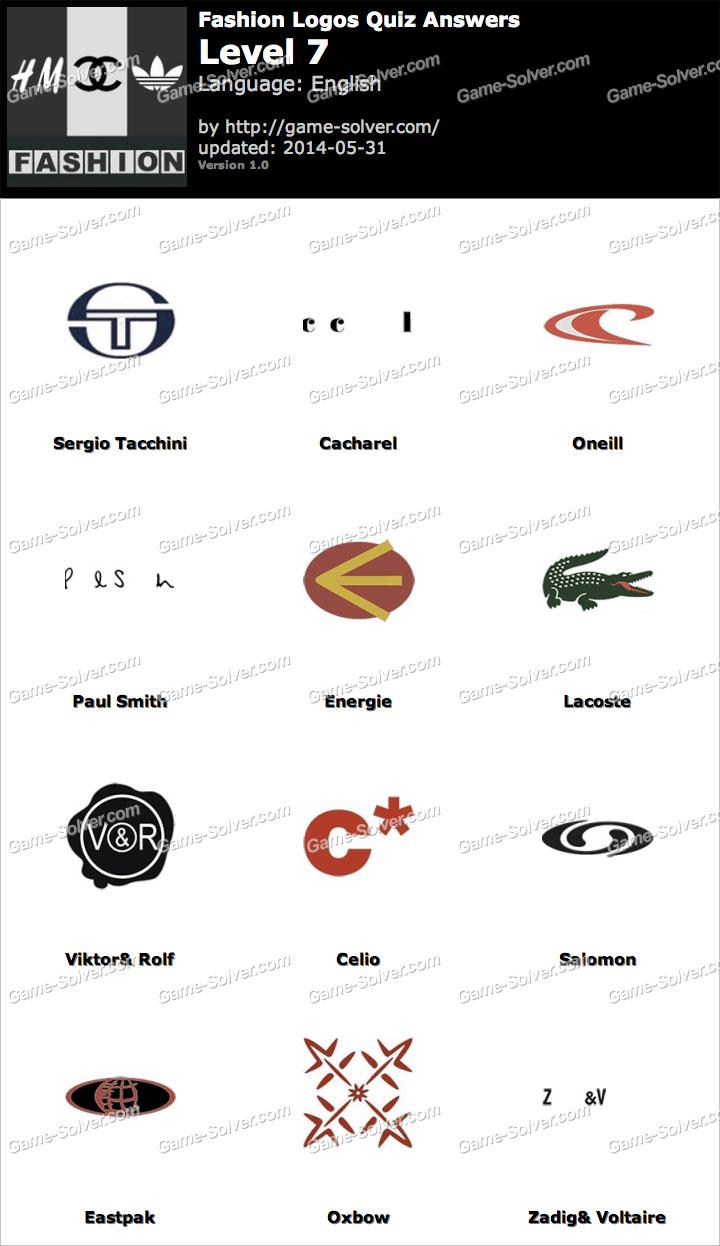 fashion logos quiz level 7 game solver