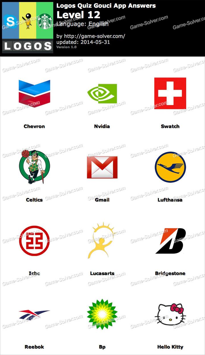 logos quiz gouci app level 12 game solver