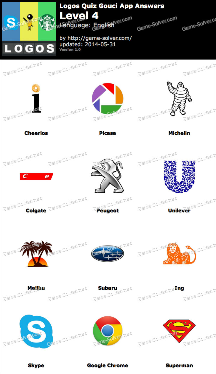 the gallery for gt all logos quiz answers level 4