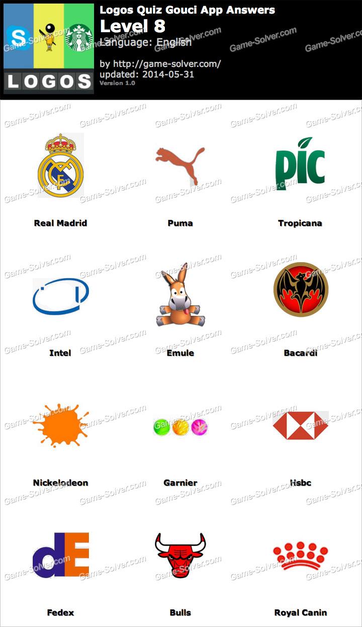 logos quiz gouci app level 8 game solver