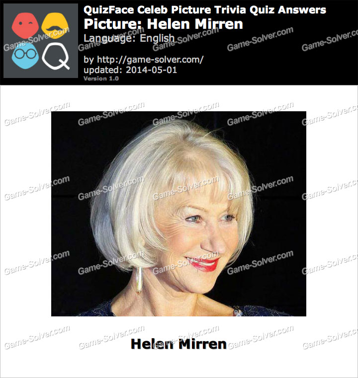 QuizFace Level Helen Mirren