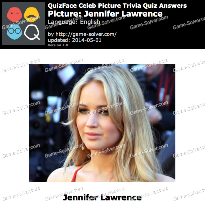 QuizFace Level Jennifer Lawrence