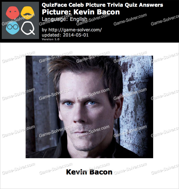 QuizFace Level Kevin Bacon