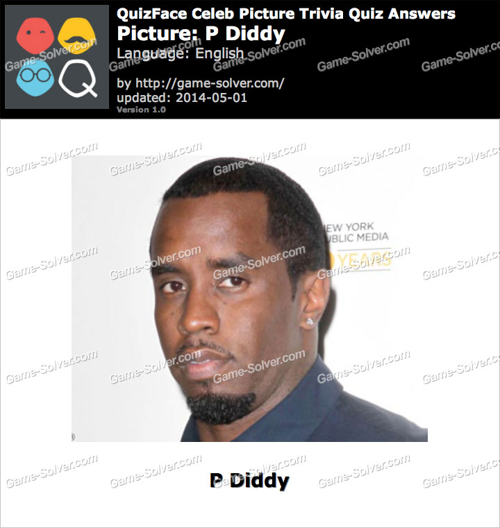 QuizFace Level P Diddy