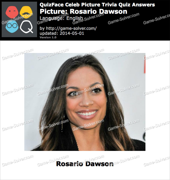 QuizFace Level Rosario Dawson