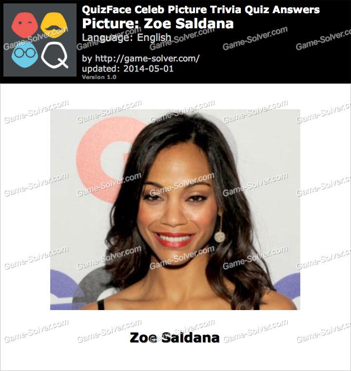 QuizFace Level Zoe Saldana