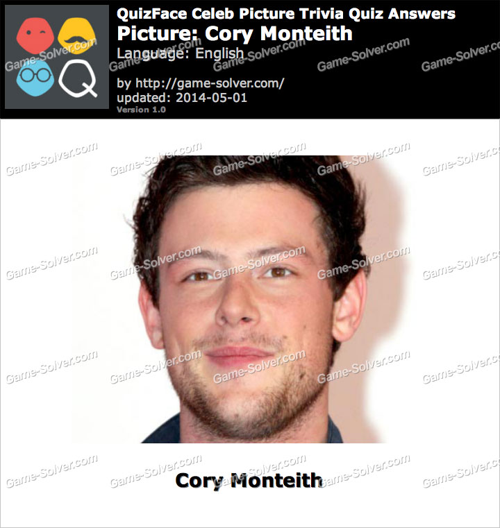 QuizFace Level Cory Monteith