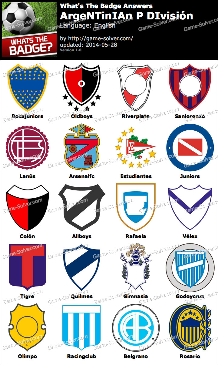 Whats the badge argentinian p divisi n answers game solver for Div p