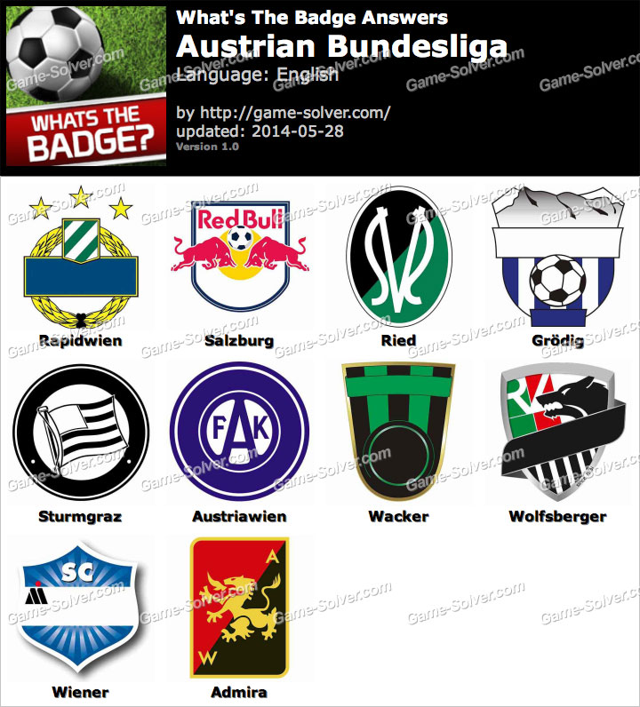 Whats The Badge Austrian Bundesliga Answers