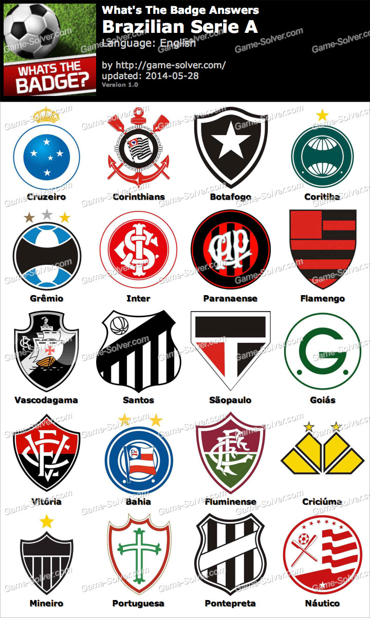 Serie A: Whats The Badge Brazilian Serie A Answers
