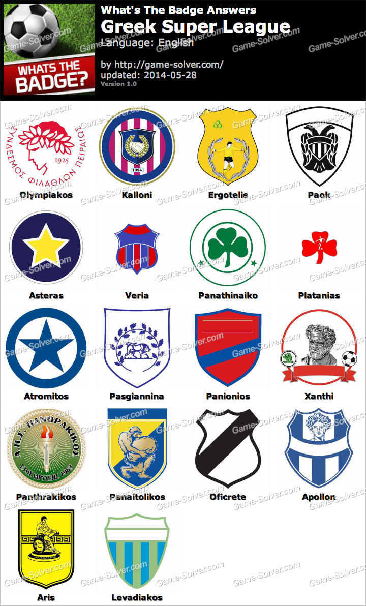 Whats The Best Makeup For A Drag Queen: Whats The Badge Greek Super League Answers