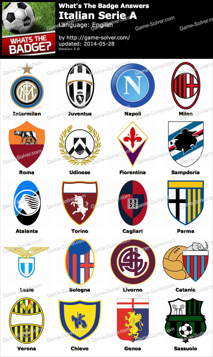 Serie A: Whats The Badge Italian Serie A Answers