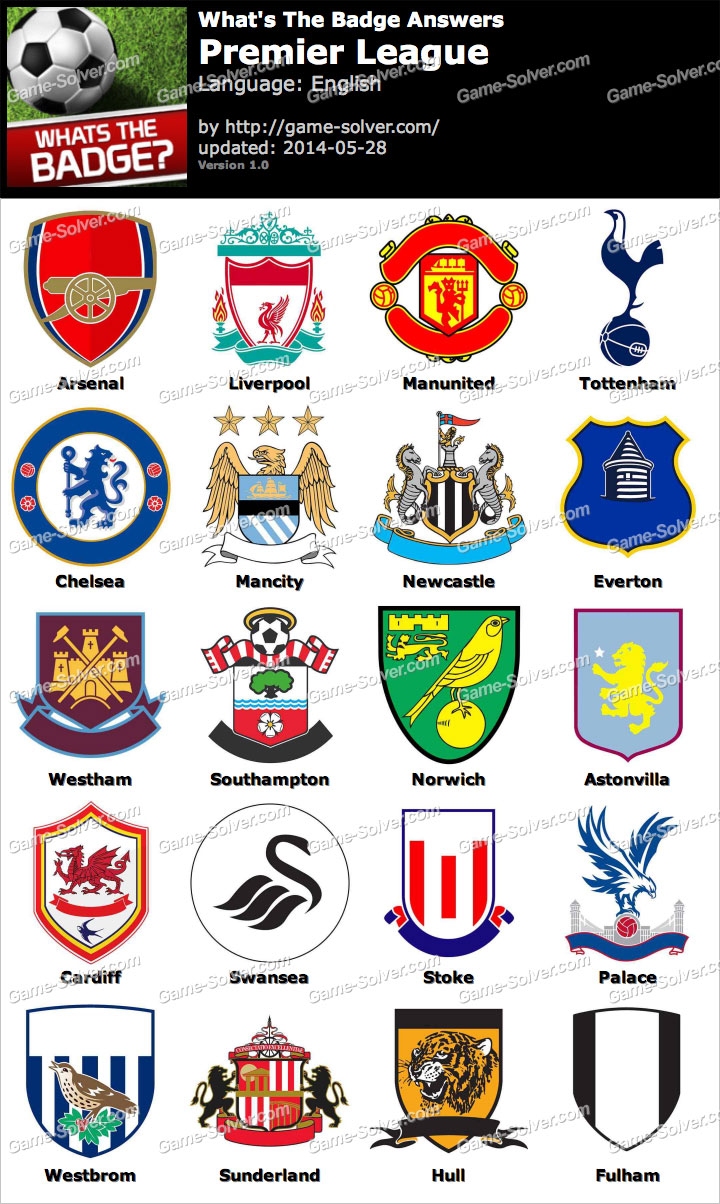 Whats The Badge Premier League Answers