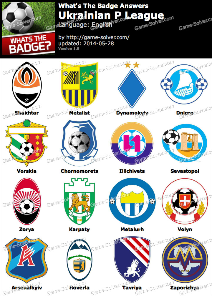 Whats The Badge Ukrainian P League Answers