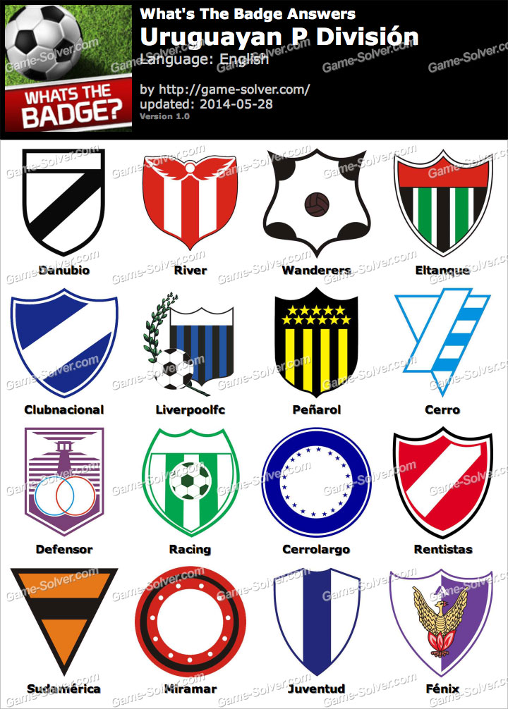 Whats the badge uruguayan p divisi n answers game solver for Div p