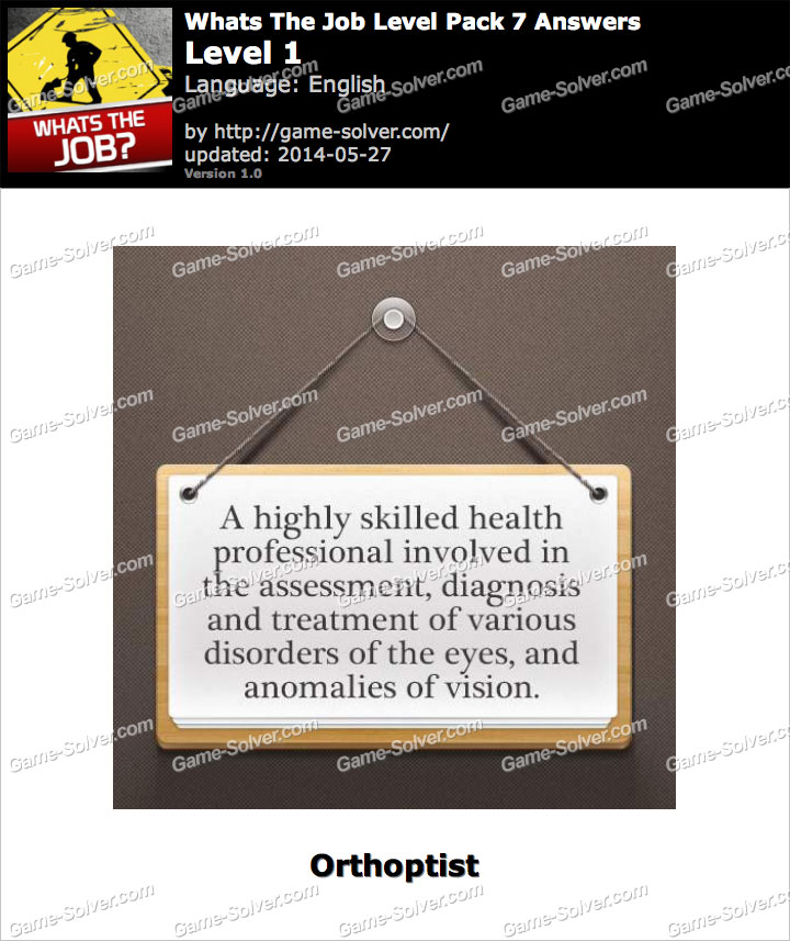 Orthoptist job description