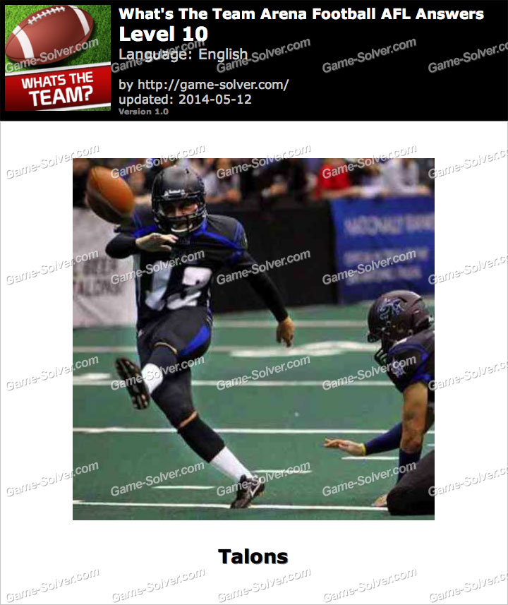 What's The Team Arena Football AFL Level 10