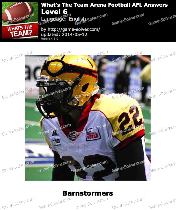 What's The Team Arena Football AFL Level 6