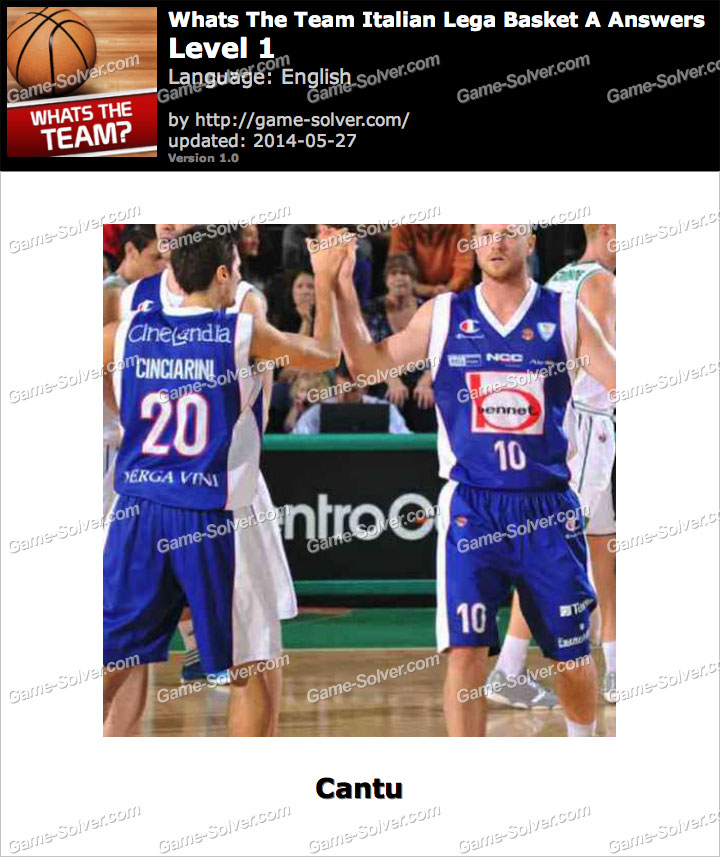 Whats The Team Italian Lega Basket A Answers Game Solver
