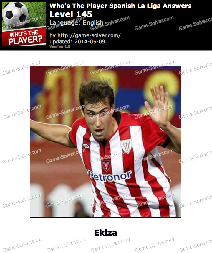 Who's The Player Spanish La Liga Level 145