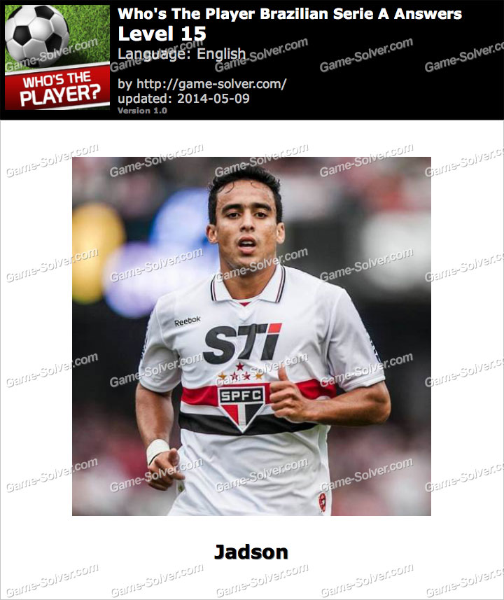 Who's The Player Brazilian Serie A Level 15