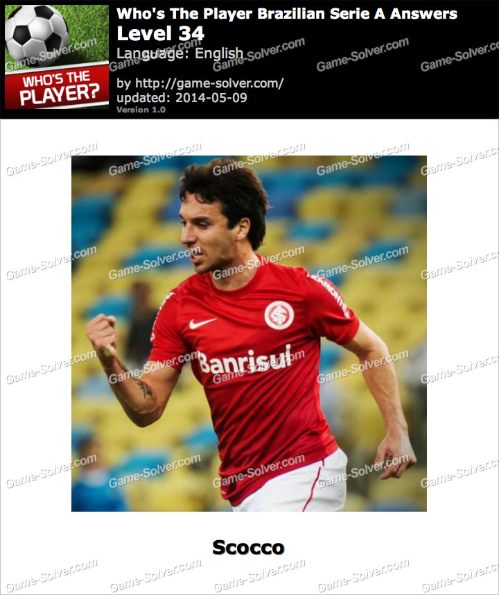 Who's The Player Brazilian Serie A Level 34