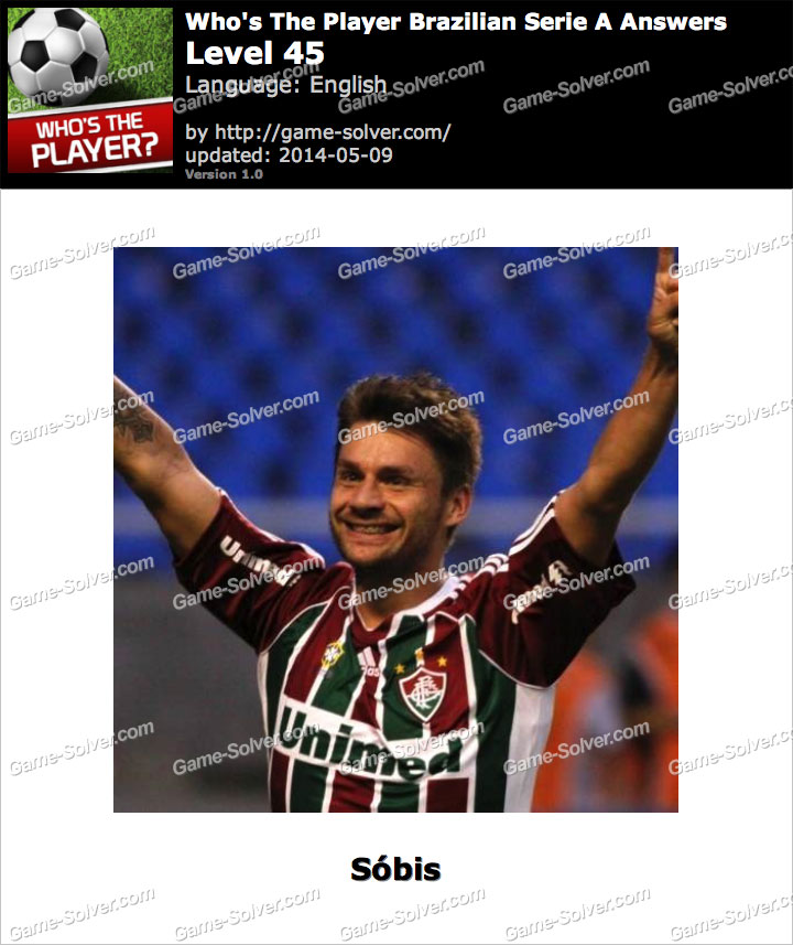 Who's The Player Brazilian Serie A Level 45