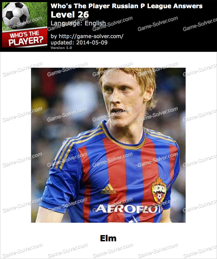 Who's The Player Russian P League Level 26