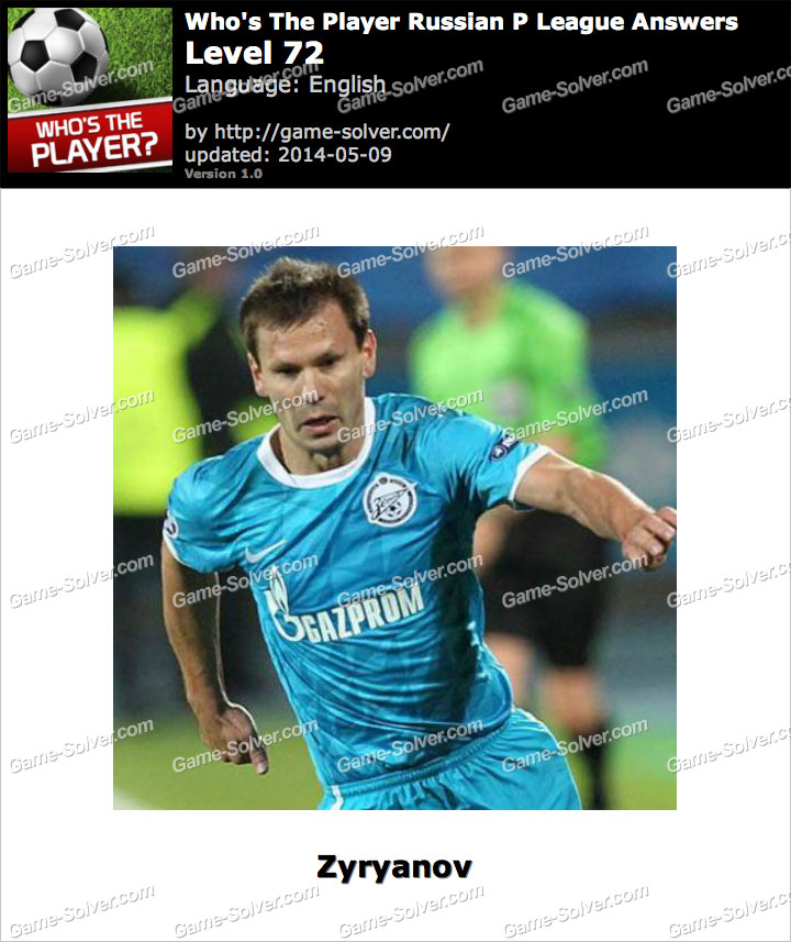 Who's The Player Russian P League Level 72