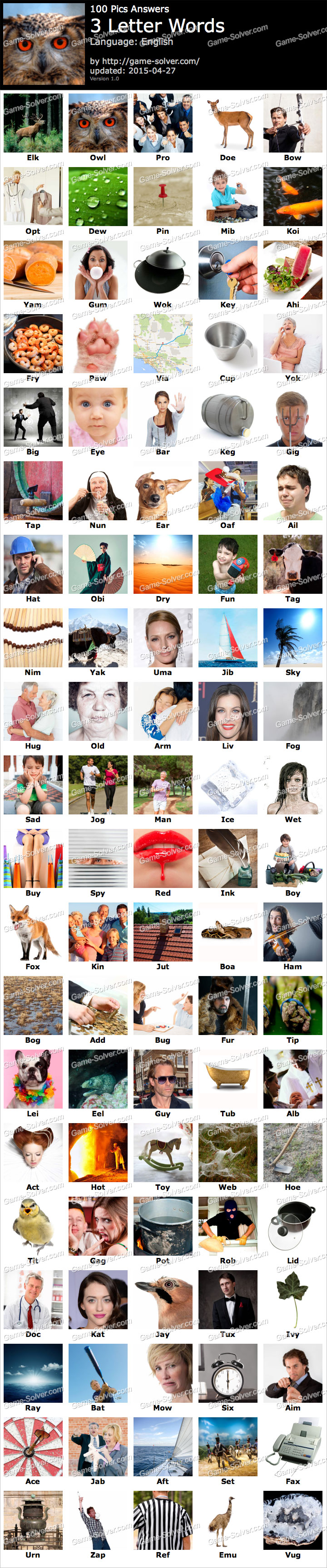 100 pics 3 letter words 100 pics 3 letter words solver 20004 | 100 Pics 3 Letter words 2015 04