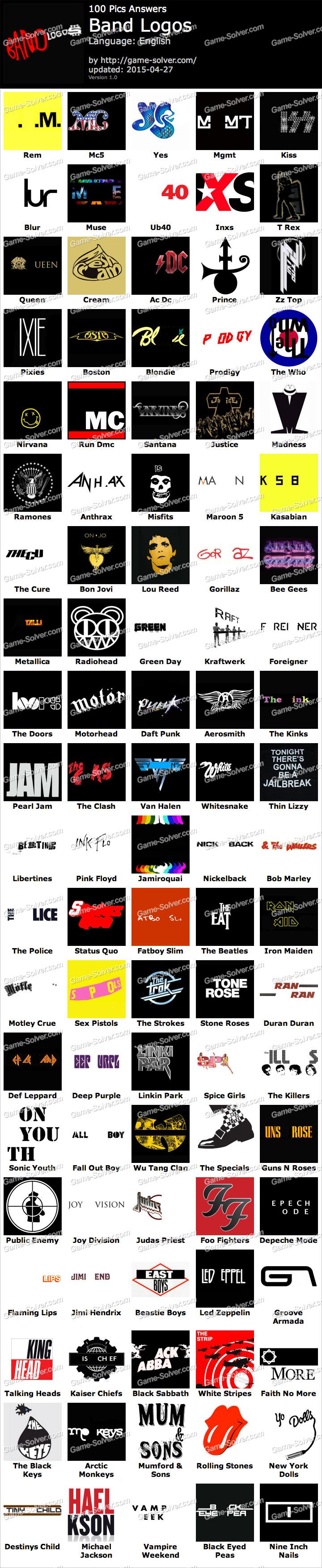 Logo Pics Answers Band Logos 100 Pics Band Logos