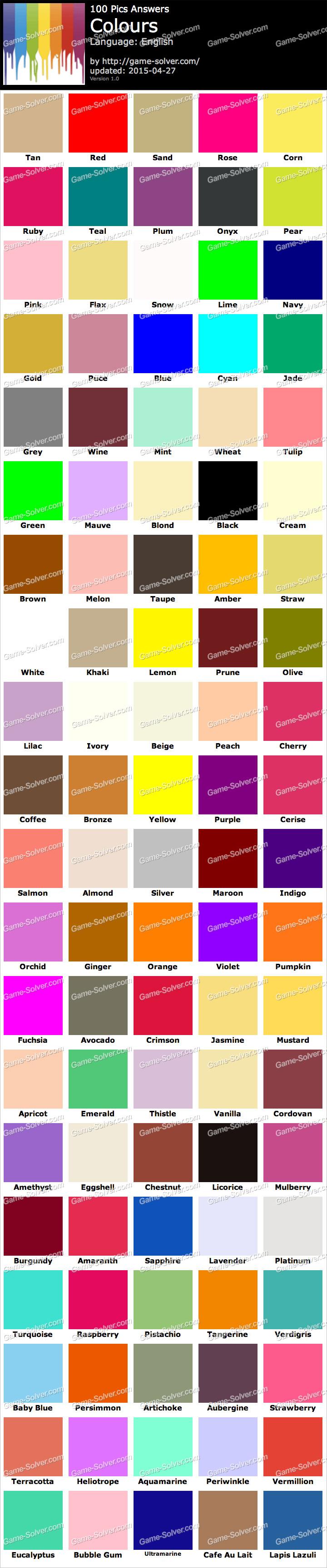 100 pics colours