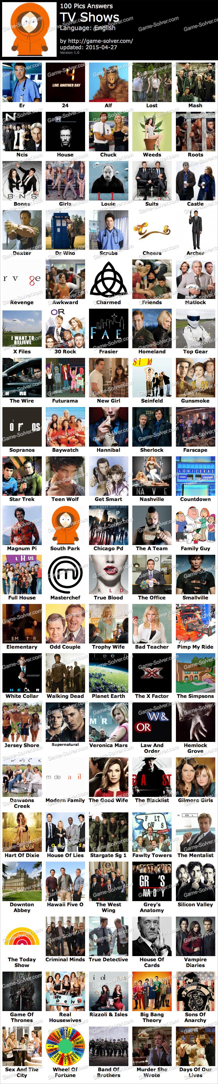 Tv shows 100 pics