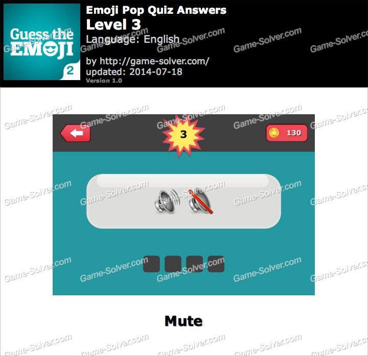 Emoji Pop Quiz Level 3 - Game Solver