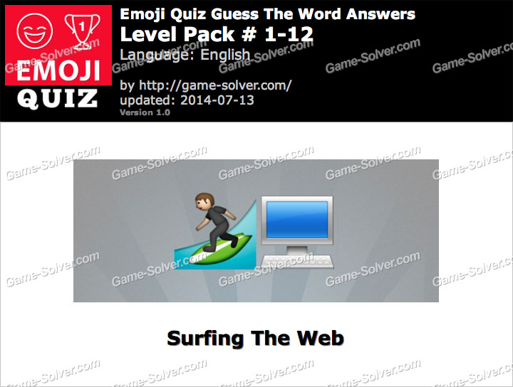 Emoji Quiz Guess the Word Level Pack 1-12
