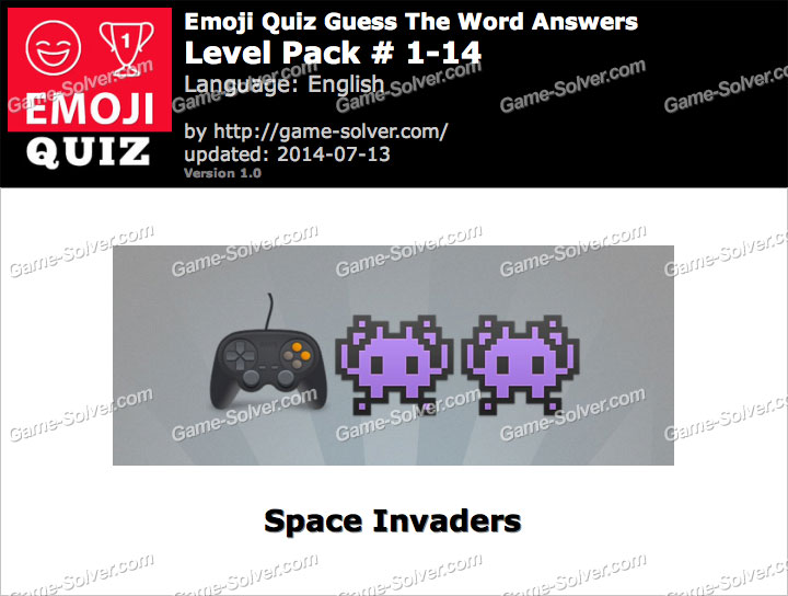Emoji Quiz Guess the Word Level Pack 1-14