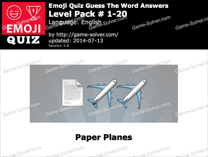 Emoji Quiz Guess the Word Level Pack 1-20