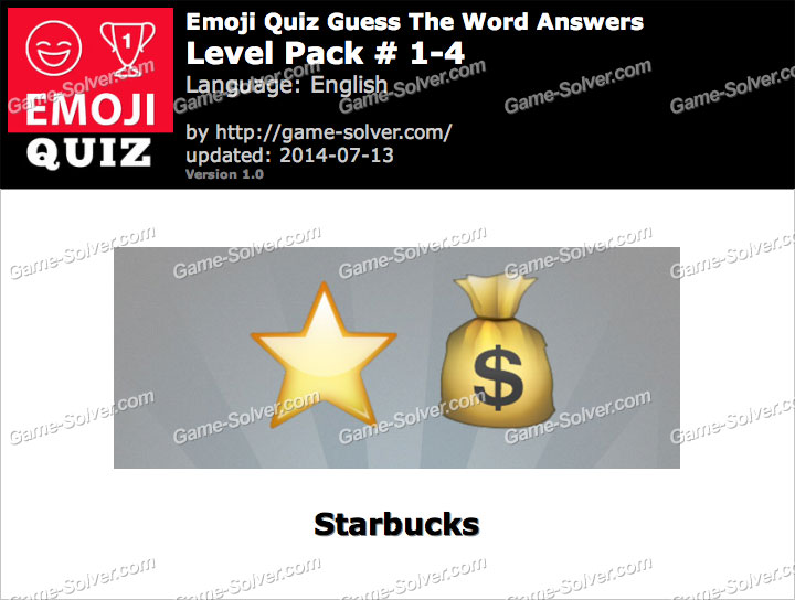 Emoji Quiz Guess the Word Level Pack 1-4