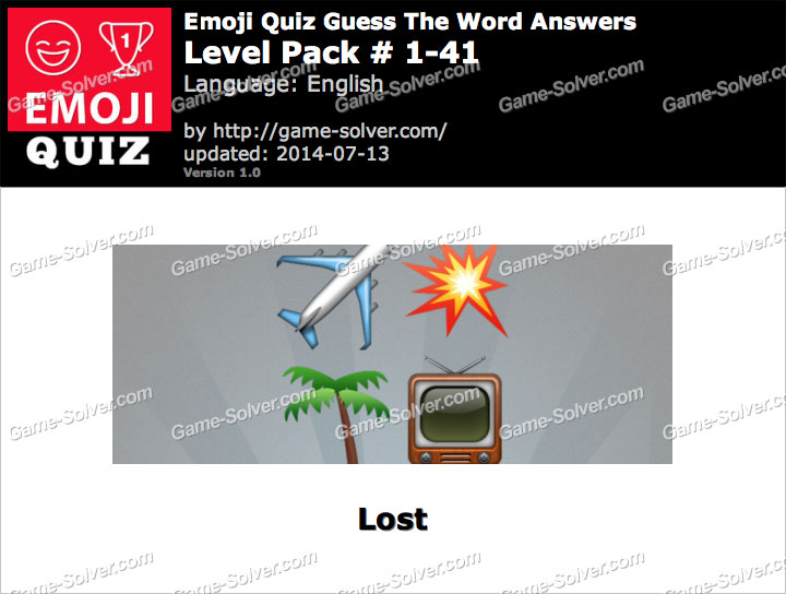 Emoji Quiz Guess the Word Level Pack 1-41