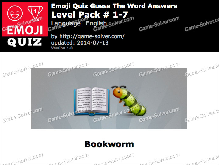 Emoji Quiz Guess the Word Level Pack 1-7