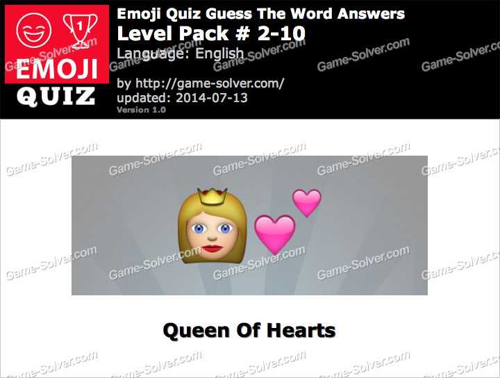 Emoji Quiz Guess the Word Level Pack 2-10
